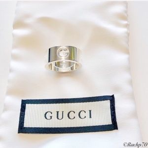 New Gucci Cut-Out G Ring Size 6